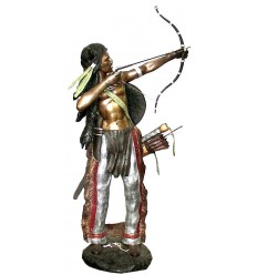 Sculpture Indien en bronze BRZ0397 ( H .210 x L .96 Cm )