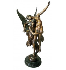 Sculpture d'ange en bronze BRZ0773 ( H .167 x L .112 Cm )