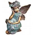 Sculpture d'ange en bronze BRZ1113 ( H .13 x L .10 Cm ) Poids : 1 Kg