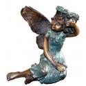 Sculpture d'ange en bronze BRZ1115 ( H .10 x L .10 Cm ) Poids : 0.6 Kg