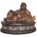 statuette de bouddhas en bronze BRZ0364-10  ( H .25 x L .30 Cm )  Poids : 4 Kg