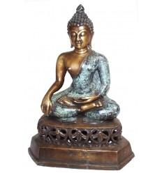 statuette de bouddhas en bronze BRZ0844 ( H .46 x L .30 Cm ) Poids : 6 Kg