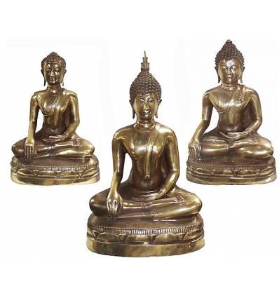 Bouddhas BRZ1343-7  ( H .18 x L . Cm )