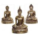 statuette de bouddhas en bronze BRZ1343-7  ( H .18 x L . Cm )