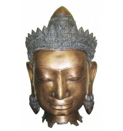 Tête de bouddha BRZ1251 ( H .81 x L .51 Cm ) Poids : 30 Kg