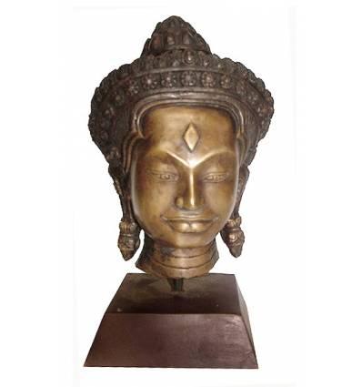 Tête de bouddha BRZ1252 ( H .25 x L . Cm ) Poids : 3 Kg