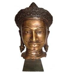 Tête de bouddha BRZ1253 ( H .25 x L . Cm ) Poids : 3 Kg