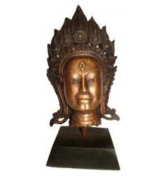 Tête de bouddha BRZ1254 ( H .25 x L . Cm ) Poids : 3 Kg