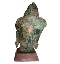 Tête de bouddha BRZ1255V ( H .25 x L . Cm ) Poids : 3 Kg
