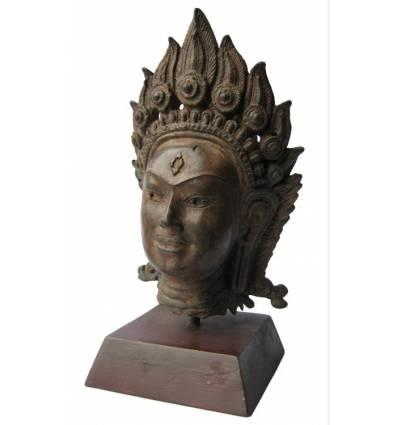 Tête de bouddha BRZ1256V  ( H .25 x L . Cm )  Poids : 3 Kg