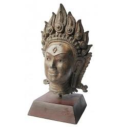 Tête de bouddha BRZ1256M ( H .25 x L . Cm ) Poids : 3 Kg