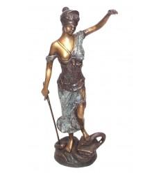 Sculpture de la Justice en bronze BRZ0910V-32 ( H .82 x L . 40Cm )
