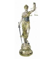 Sculpture de la Justice en bronze BRZ1405OR ( H .211 x L .86 Cm ) Poids : 64 Kg