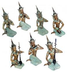 Sculptures de musiciens en bronze BRZ0259-8 ( H .20 x L . Cm )