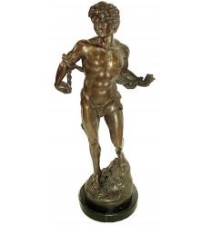 Sculpture d'homme en bronze BRZ1031/SM036 ( H .66 x L .30 Cm ) Poids : 14 Kg