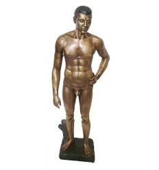 Sculpture d'homme en bronze BRZ1126 ( H .68 x L . Cm ) Poids : 8 Kg