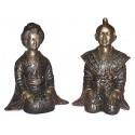 Sculpture divinité asiatique en bronze BRZ0041N-8 ( H .20 x L . Cm ) Poids : 3 Kg