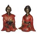 Sculpture divinité asiatique en bronze BRZ0041R-8 ( H .20 x L . Cm ) Poids : 3 Kg