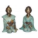 Sculpture divinité asiatique en bronze BRZ0041V-14 ( H .35 x L . Cm ) Poids : 13 Kg