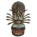 Sculpture divinité asiatique en bronze BRZ0327 ( H .31 x L .22 Cm )