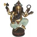 Sculpture divinité asiatique en bronze BRZ0329 ( H .25 x L . Cm ) Poids : 3 Kg