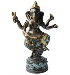 Sculpture divinité asiatique en bronze BRZ1287 ( H .20 x L .14 Cm ) Poids : 1 Kg