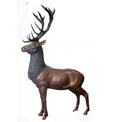 Cerf en bronze BRZ0394 ( H .260 x L .150 Cm ) Poids : 173 Kg
