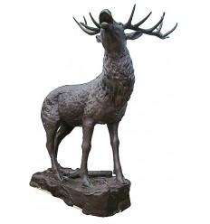 Cerf en bronze BRZ1364 ( H .235 x L .160 Cm ) Poids : 218 Kg