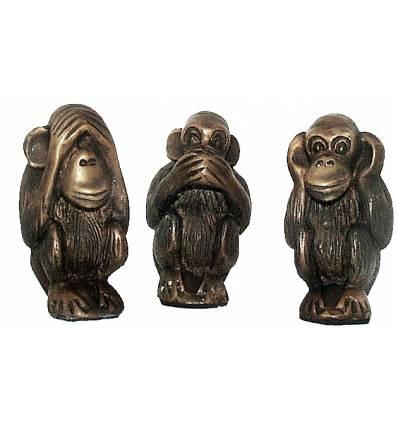singe en bronze BRZ0177 ( H .12 x L . Cm ) Poids : 2 Kg