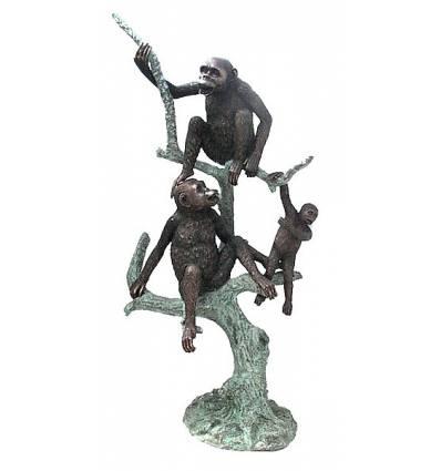singe en bronze BRZ0520  ( H . x L . Cm )