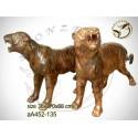 tigre en bronze aa452-135 ( H .88 x L .170 Cm )