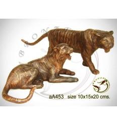 tigre en bronze aa453-100  ( H .15 x L .20 Cm )
