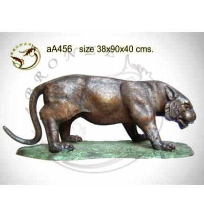 tigre en bronze aa456-100  ( H .40 x L .90 Cm )