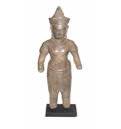 Sculpture de bouddha antique en bronze BRZ0608 ( H .45 Cm )
