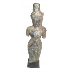 Sculpture de bouddha antique en bronze BRZ0613 ( H .63 Cm )