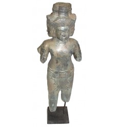Sculpture de bouddha antique en bronze BRZ0614  ( H .63 Cm )