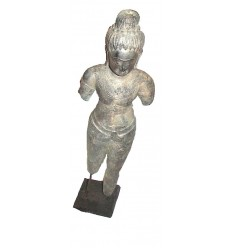 Sculpture de bouddha antique en bronze BRZ0615  ( H .66 Cm )