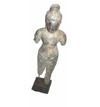 Sculpture de bouddha antique en bronze BRZ0615 ( H .66 Cm )