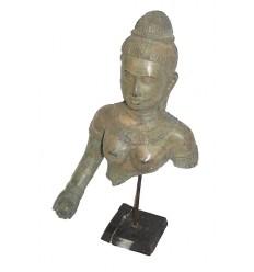 Sculpture de bouddha antique en bronze BRZ0617  ( H .43 Cm )  Poids : 3 Kg