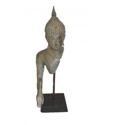 Sculpture de bouddha antique en bronze BRZ0618-17  ( H .25 Cm )
