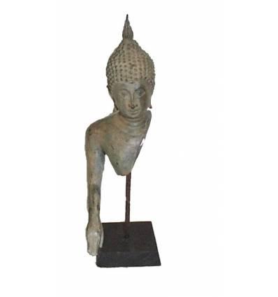 Sculpture de bouddha antique en bronze BRZ0618-17 ( H .25 Cm )