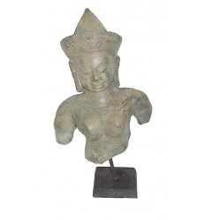 Sculpture de bouddha antique en bronze BRZ0619  ( H .38 Cm )