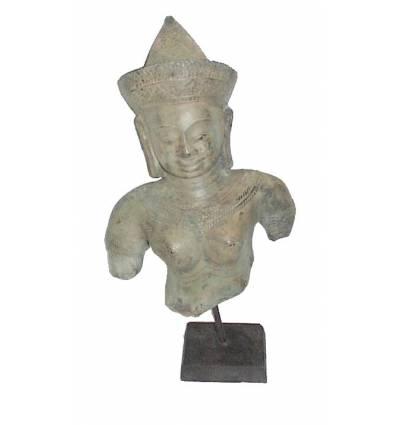Sculpture de bouddha antique en bronze BRZ0619  ( H .38 Cm )