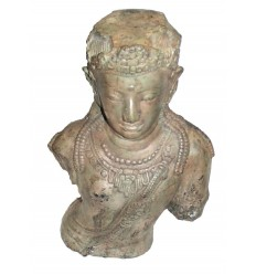 Sculpture de bouddha antique en bronze BRZ0620  ( H .45 Cm )
