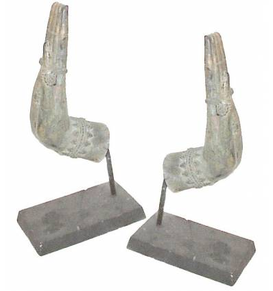 Sculpture de bouddha antique en bronze BRZ0664 ( H .30 Cm ) Poids : 2 Kg