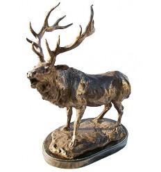 cerf en bronze BRZ1352M-18  ( H .45 x L .30 Cm )