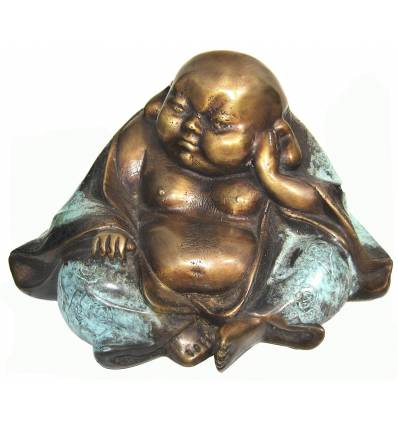 statuette de bouddhas en bronze BRZ0577M-SM ( H . x L . Cm )