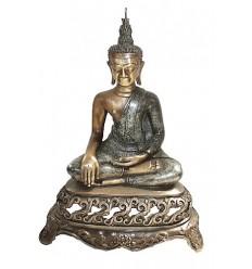 statuette de bouddhas en bronze BRZ0843 ( H .46 x L .30 Cm ) Poids : 6 Kg