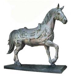 cheval en bronze BRZ1410  ( H .220 x L .270 Cm )  Poids : 400 Kg