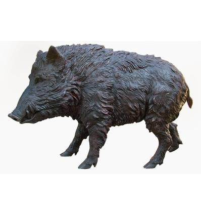Sanglier en bronze BRZ1416  ( H .92 x L .143 Cm )  Poids : 87 Kg